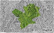 Satellite 3D Map of Fengshan, lighten, desaturated