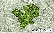 Satellite 3D Map of Fengshan, lighten