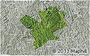 Satellite 3D Map of Fengshan, lighten, semi-desaturated