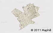 Shaded Relief 3D Map of Fengshan, cropped outside