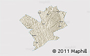 Shaded Relief 3D Map of Fengshan, single color outside