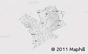 Silver Style 3D Map of Fengshan, single color outside