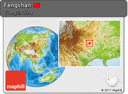 Physical Location Map of Fengshan