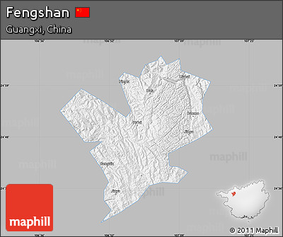Gray Map of Fengshan, single color outside