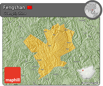 Savanna Style Map of Fengshan