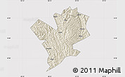 Shaded Relief Map of Fengshan, cropped outside