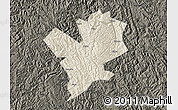 Shaded Relief Map of Fengshan, darken