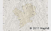 Shaded Relief Map of Fengshan, lighten