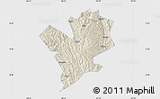 Shaded Relief Map of Fengshan, single color outside