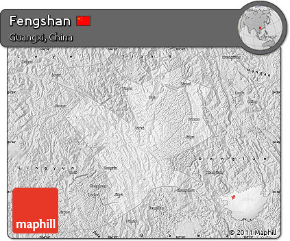 Silver Style Map of Fengshan