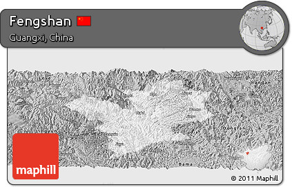 Gray Panoramic Map of Fengshan