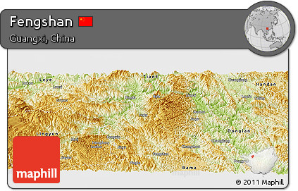 Physical Panoramic Map of Fengshan