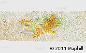 Physical Panoramic Map of Fengshan, lighten