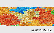 Physical Panoramic Map of Fengshan, political outside