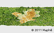 Physical Panoramic Map of Fengshan, satellite outside