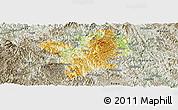 Physical Panoramic Map of Fengshan, semi-desaturated