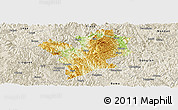 Physical Panoramic Map of Fengshan, shaded relief outside