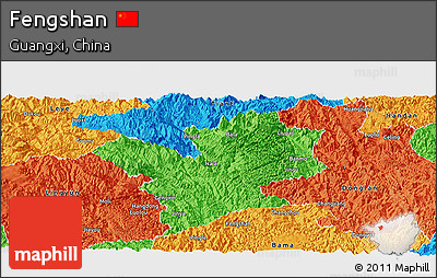 Political Panoramic Map of Fengshan