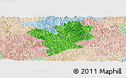 Political Panoramic Map of Fengshan, lighten