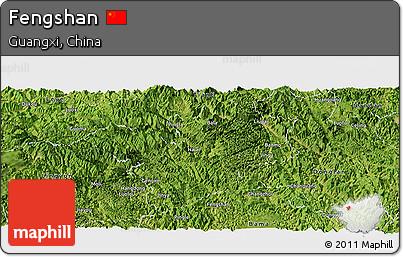 Satellite Panoramic Map of Fengshan