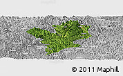 Satellite Panoramic Map of Fengshan, lighten, desaturated