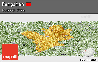 Savanna Style Panoramic Map of Fengshan