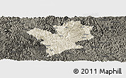 Shaded Relief Panoramic Map of Fengshan, darken
