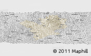 Shaded Relief Panoramic Map of Fengshan, desaturated
