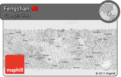 Silver Style Panoramic Map of Fengshan