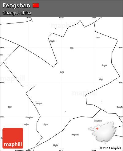 Blank Simple Map of Fengshan