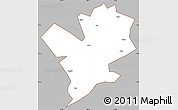 Gray Simple Map of Fengshan, cropped outside