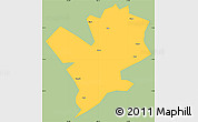 Savanna Style Simple Map of Fengshan, single color outside