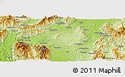 Physical Panoramic Map of Fuchuan