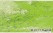 Physical Panoramic Map of Fusui