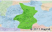 Political Panoramic Map of Fusui, lighten