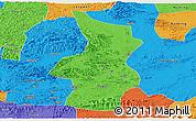 Political Panoramic Map of Fusui