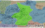Political Panoramic Map of Fusui, semi-desaturated
