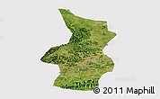 Satellite Panoramic Map of Fusui, cropped outside