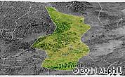 Satellite Panoramic Map of Fusui, desaturated