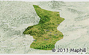 Satellite Panoramic Map of Fusui, lighten
