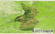 Satellite Panoramic Map of Fusui, physical outside