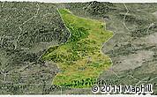 Satellite Panoramic Map of Fusui, semi-desaturated