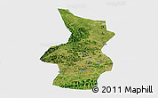 Satellite Panoramic Map of Fusui, single color outside