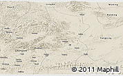 Shaded Relief Panoramic Map of Fusui