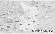 Silver Style Panoramic Map of Fusui