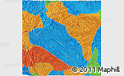 Political 3D Map of Jingxi