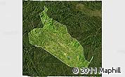 Satellite 3D Map of Jingxi, darken