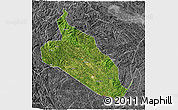 Satellite 3D Map of Jingxi, desaturated