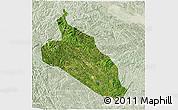 Satellite 3D Map of Jingxi, lighten
