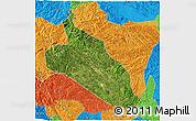 Satellite 3D Map of Jingxi, political outside